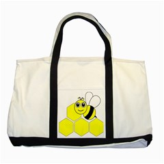 Bee Wasp Yellow Two Tone Tote Bag