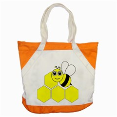 Bee Wasp Yellow Accent Tote Bag by Alisyart