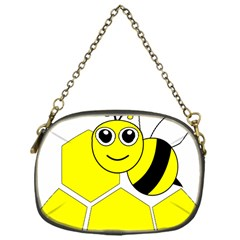 Bee Wasp Yellow Chain Purses (one Side)  by Alisyart