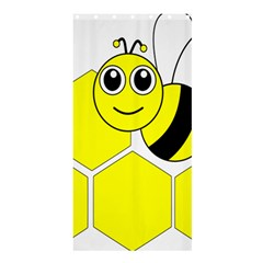 Bee Wasp Yellow Shower Curtain 36  X 72  (stall)