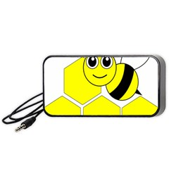 Bee Wasp Yellow Portable Speaker (black) by Alisyart