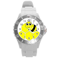 Bee Wasp Yellow Round Plastic Sport Watch (l) by Alisyart
