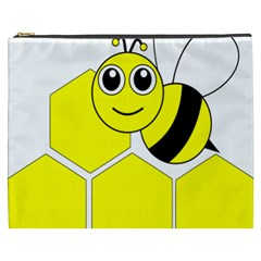 Bee Wasp Yellow Cosmetic Bag (xxxl)