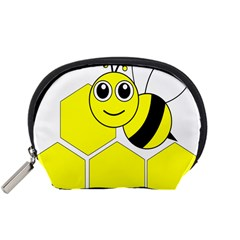 Bee Wasp Yellow Accessory Pouches (small)  by Alisyart
