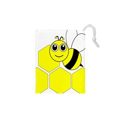Bee Wasp Yellow Drawstring Pouches (xs)