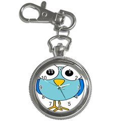 Bird Big Eyes Blue Key Chain Watches