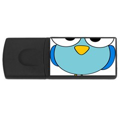 Bird Big Eyes Blue Usb Flash Drive Rectangular (4 Gb) by Alisyart