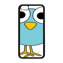 Bird Big Eyes Blue Apple Iphone 5c Seamless Case (black)