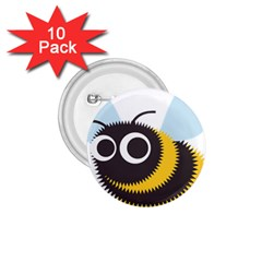 Bee Wasp Face Sinister Eye Fly 1 75  Buttons (10 Pack)