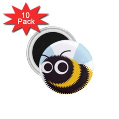 Bee Wasp Face Sinister Eye Fly 1 75  Magnets (10 Pack)  by Alisyart
