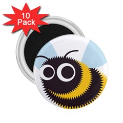 Bee Wasp Face Sinister Eye Fly 2 25  Magnets (10 Pack)  by Alisyart