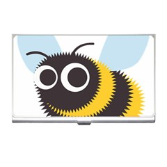 Bee Wasp Face Sinister Eye Fly Business Card Holders by Alisyart