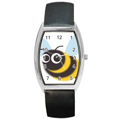 Bee Wasp Face Sinister Eye Fly Barrel Style Metal Watch by Alisyart