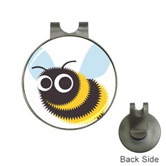 Bee Wasp Face Sinister Eye Fly Hat Clips With Golf Markers by Alisyart