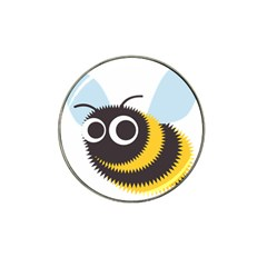 Bee Wasp Face Sinister Eye Fly Hat Clip Ball Marker (4 Pack)