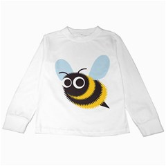 Bee Wasp Face Sinister Eye Fly Kids Long Sleeve T Shirts by Alisyart