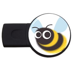 Bee Wasp Face Sinister Eye Fly Usb Flash Drive Round (4 Gb) by Alisyart