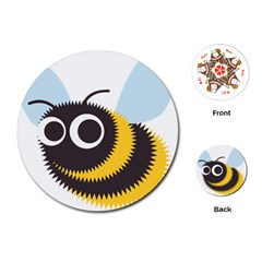 Bee Wasp Face Sinister Eye Fly Playing Cards (round)