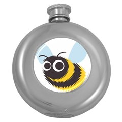 Bee Wasp Face Sinister Eye Fly Round Hip Flask (5 Oz) by Alisyart