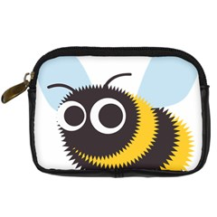 Bee Wasp Face Sinister Eye Fly Digital Camera Cases by Alisyart