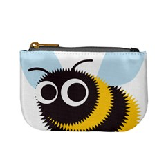 Bee Wasp Face Sinister Eye Fly Mini Coin Purses by Alisyart