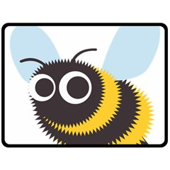 Bee Wasp Face Sinister Eye Fly Fleece Blanket (large)