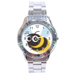 Bee Wasp Face Sinister Eye Fly Stainless Steel Analogue Watch by Alisyart