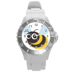 Bee Wasp Face Sinister Eye Fly Round Plastic Sport Watch (l) by Alisyart