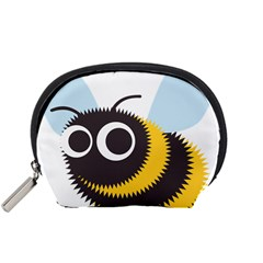 Bee Wasp Face Sinister Eye Fly Accessory Pouches (small)  by Alisyart