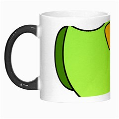 Bird Big Eyes Green Morph Mugs by Alisyart