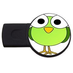 Bird Big Eyes Green Usb Flash Drive Round (4 Gb)