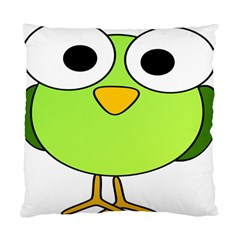 Bird Big Eyes Green Standard Cushion Case (one Side)