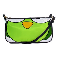 Bird Big Eyes Green Shoulder Clutch Bags