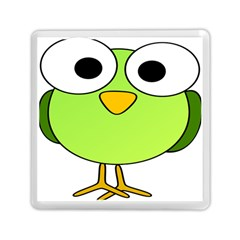 Bird Big Eyes Green Memory Card Reader (square)  by Alisyart