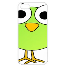 Bird Big Eyes Green Apple Iphone 5 Seamless Case (white) by Alisyart