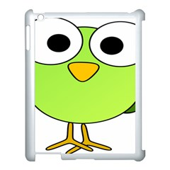 Bird Big Eyes Green Apple Ipad 3/4 Case (white)
