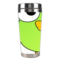 Bird Big Eyes Green Stainless Steel Travel Tumblers by Alisyart