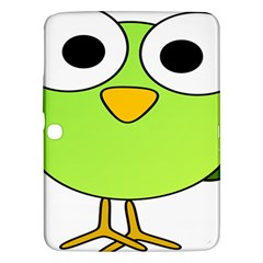 Bird Big Eyes Green Samsung Galaxy Tab 3 (10 1 ) P5200 Hardshell Case  by Alisyart