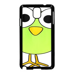 Bird Big Eyes Green Samsung Galaxy Note 3 Neo Hardshell Case (black)