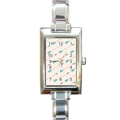 Arrow Quilt Rectangle Italian Charm Watch by Alisyart