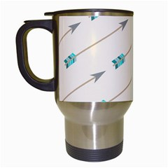 Arrow Quilt Travel Mugs (white) by Alisyart