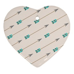Arrow Quilt Heart Ornament (two Sides)
