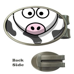 Animals Cow  Face Cute Money Clips (oval)  by Alisyart