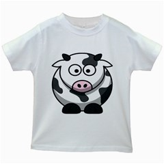 Animals Cow  Face Cute Kids White T Shirts by Alisyart