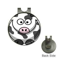 Animals Cow  Face Cute Hat Clips With Golf Markers by Alisyart