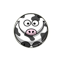 Animals Cow  Face Cute Hat Clip Ball Marker