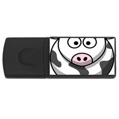 Animals Cow  Face Cute Usb Flash Drive Rectangular (4 Gb)