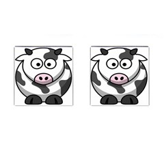 Animals Cow  Face Cute Cufflinks (square) by Alisyart
