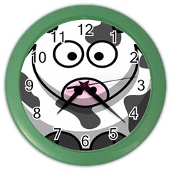 Animals Cow  Face Cute Color Wall Clocks by Alisyart