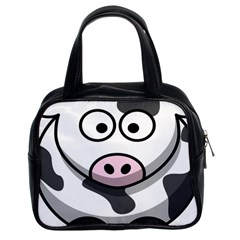 Animals Cow  Face Cute Classic Handbags (2 Sides) by Alisyart